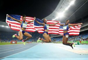 image of black women olympians