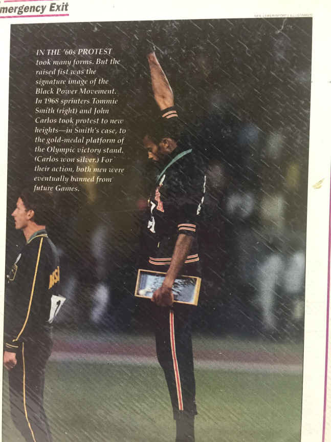 Photo of magazine clipping of iconic Olympic protest.