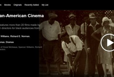 screenshot of Pioneers of African American Cinema billboard