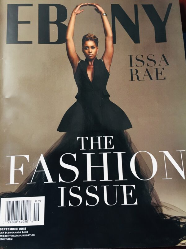 image of EBONY Magazine cover sept 2018