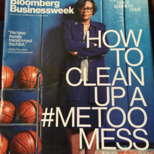 image of bloomberg businessweek cover featuring Cynthia Marshall