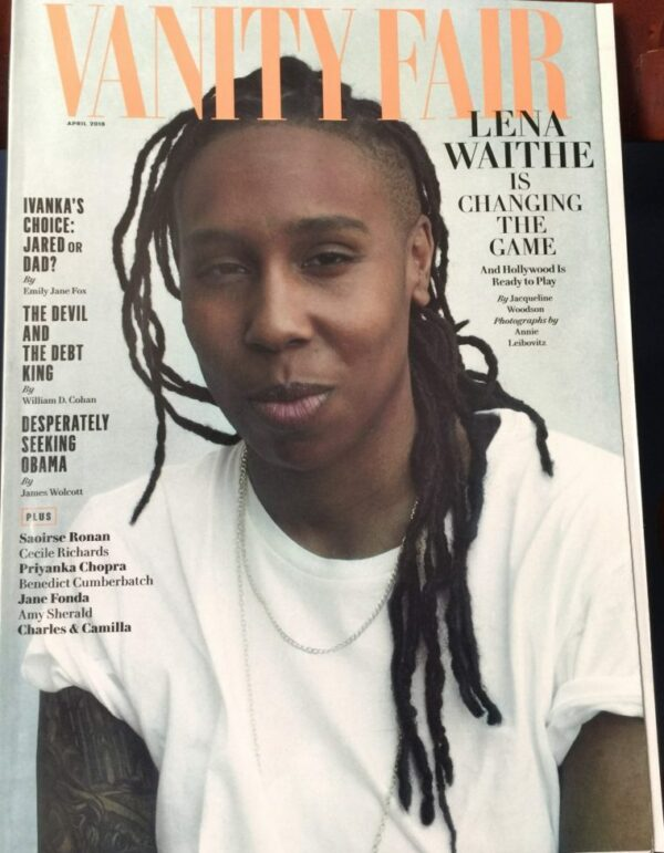 image of vanity fair cover featuring Lena Waithe