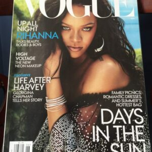 image of vogue cover featuring rihanna