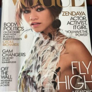 image of vogue cover featuring zendaya